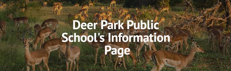 deer park information page image with real deer