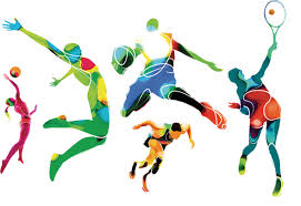 Graphic of people playing sports