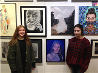 Two AP Art Students Exhibit at 'Advanced Visions'