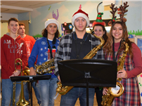 Busy Brass Ensemble Brings Holiday Sounds to Primary Schools