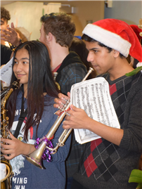 Busy Brass Ensemble Brings Holiday Sounds to Primary Schools 3