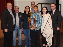 Marching Falcons Honored by Fire Department 1