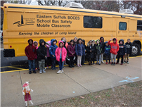 'Safety Sally' Teaches JQA Students About Bus Safety