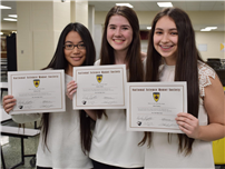 High School Holds First Math and Science Honor Societies Induction