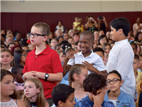 Memorable Moving Up Marks Transition for JFK Fifth-Graders