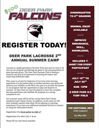 Deer Park Lacrosse to hold Second Annual Summer Camp