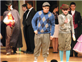 "Deer Park High School students Sam Henkel and Sergio Valoy played two gangsters disguised as pastry chefs in ""The Drowsy Chaperone."""