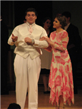 "Deer Park High School's spring production of ""The Drowsy Chaperone"" starred Alex Stephani as oil tycoon Robert Martin and Michelle Rubino as Broadway star Janet Van De Graaff, on the day of their wedding."