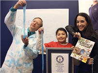 Fifth-Grader Breaks a Slimy Guinness World Record