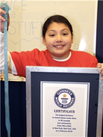 Fifth-Grader Breaks a Slimy Guinness World Record 2