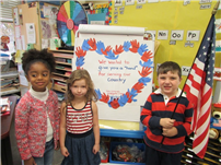 May Moore Kindergartners Give a 'Hand' to Vets