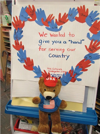 May Moore Kindergartners Give a 'Hand' to Vets 3